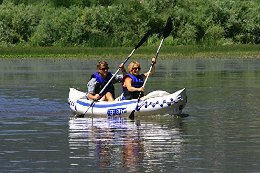 just starting in kayaking on the lake