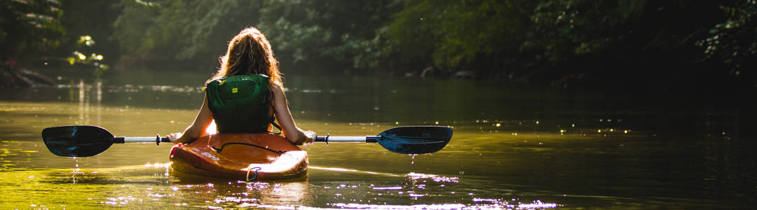 girl going canoeing