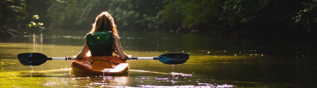girl going canoeing