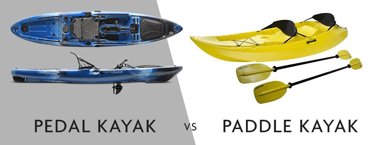 pedal kayak vs paddle kayak